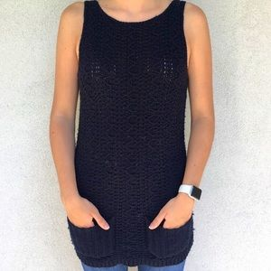 Anthro Far Away From Close Sleeveless Sweater Top